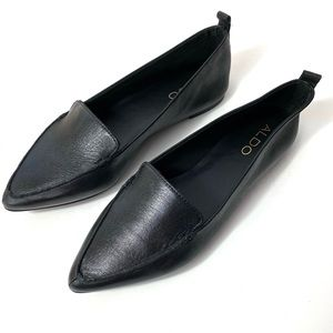 New ALDO Galinsky Loafer Flats NWOB Leather Shoes